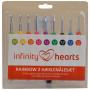 Infinity Hearts Rainbow 2 Häkelnadeln Set 13,5cm 2-6mm 9 Größen
