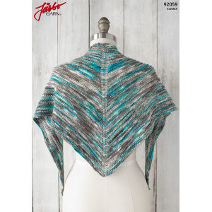 Alegria Shadow Shawl - Strickmuster mit Kit Tuch 135x45cm