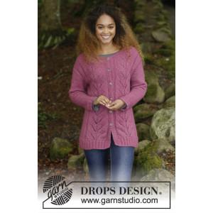 Lotus Jacket by DROPS Design - Strickmuster mit Kit Jacke mit Zopf- und Perlmuster Größen S - XXXL