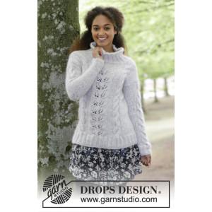 Winter Flirt by DROPS Design - Strickmuster mit Kit Pullover mit Zopf- und Spitzenmuster Größen S - XXXL
