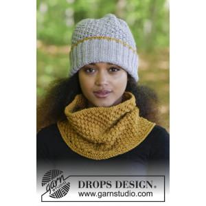 Welcome Winter by DROPS Design – Strickmuster mit Kit Mütze und Schlauchschal mit Blaubeeren-Muster Größe S/M - L/XL