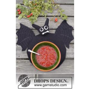 Lunch mit Vlad by DROPS Design - Häkelmuster mit Kit Fledermaus Untersetzer 26 cm