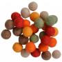 Filzkugeln Wolle 10mm versch. Herbstfarben - 30 Stk