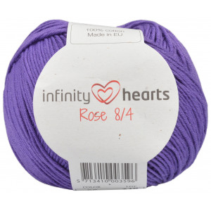 Infinity Hearts Rose 8/4 Garn einfarbig 56 Dunkles Lila