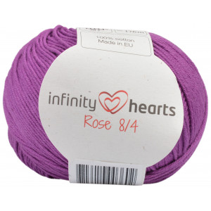 Infinity Hearts Rose 8/4 Garn einfarbig 65 Heather