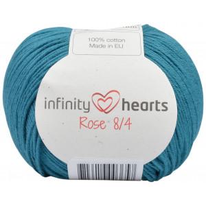 Infinity Hearts Rose 8/4 Garn einfarbig 132 Petrol