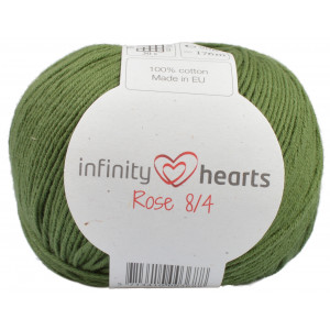 Infinity Hearts Rose 8/4 Garn einfarbig 163 Dunkelgrün