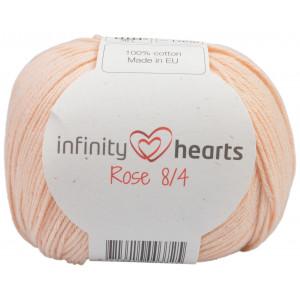 Infinity Hearts Rose 8/4 Garn einfarbig 205 Pfirsisch Hell