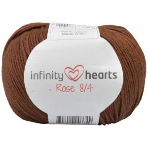 Infinity Hearts Rose 8/4 Garn einfarbig 228 Dunkelbraun