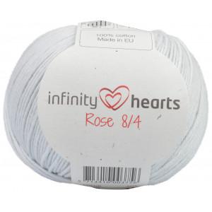 Infinity Hearts Rose 8/4 Garn einfarbig 230 Perlgrau