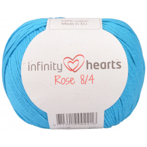 Infinity Hearts Rose 8/4 Garn einfarbig 125 Türkis