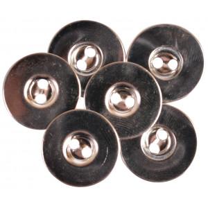Magnetknöpfe Silber 18mm - 3 Stk
