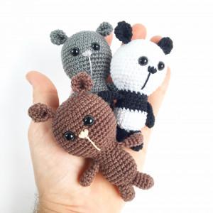 Tiny Bears af Unkeldesign - Bamse Hækleopskrift 10cm - 3 stk