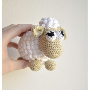 Easter sheep by KreaLoui – Schaf Häkelmuster mit Kit 12cm