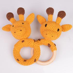 Giraffenrasseln von Rito Krea – RasselHäkelmuster mit Kit 16cm
