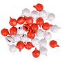 Infinity Hearts Glöckchen Metall Rot/Weiß 8mm - 30 Stk