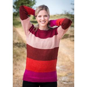 Mayflower Pullover mit Streifen in fünf Farben - Strickmuster mit Kit Pullover Größen S - XXXL