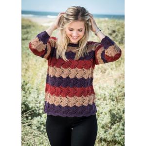 Mayflower Pullover mit Streifen und Spitze - Strickmuster mit Kit Pullover Größen S - XXXL