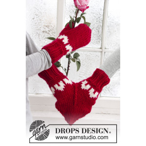 Love Glove by DROPS Design – Stickmuster mit Kit Handschuhe Größen S-L
