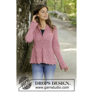 Lady Angelika Jacket by DROPS Design - Strickmuster mit Kit Jacke Größen S - XXXL