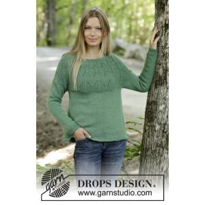 Green Echo by DROPS Design - Strickmuster mit Kit Pullover Größen S - XXXL