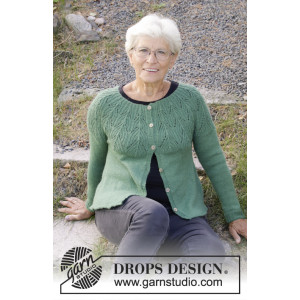 Green Echo Jacket by DROPS Design - Strickmuster mit Kit Jacke Größen S - XXXL