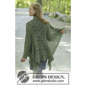 Green Envy by DROPS Design - Häkelmuster mit Kit Jacke Größen S - XXXL