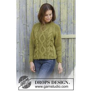 Green Tea by DROPS Design - Strickmuster mit Kit Pullover Größen S - XXXL