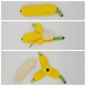 Karla´s Banane by Rito Krea – Frucht Häkelmuster mit Kit 21cm