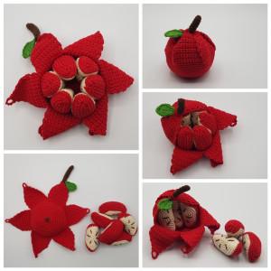 Karla´s Apfel by Rito Krea – Frucht Häkelmuster mit Kit 10cm