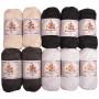 Mayflower Cotton 8/4 Junior Schwarz/Weiß Pack verschiedene Farben - 10 Knäuel
