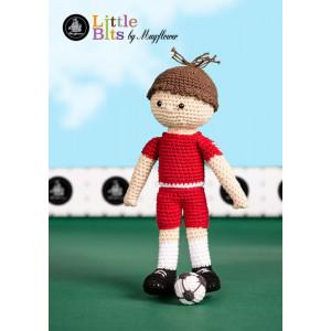 Mayflower Little Bits Froterik der Fußballspieler - Häkelmuster mit Kit Puppe