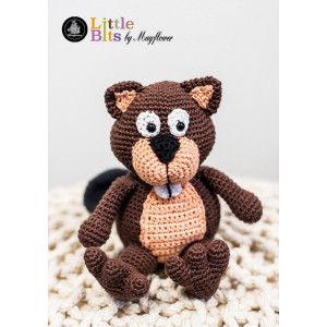 Mayflower Little Bits Benny der Biber - Häkelmuster mit Kit Kuscheltier