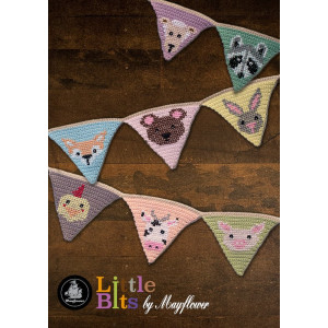 Mayflower Little Bits Wimpelketter mit Tieren - Häkelmuster mit Kit Wimperl