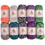 Mayflower Cotton 8/4 Junior Print Garn Packung verschiedene Print-Farben - 10 Knäuel