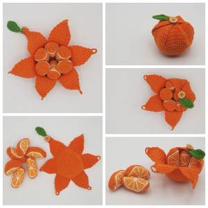 Karla´s Orange by Rito Krea – Frucht Häkelmuster mit Kit 10cm