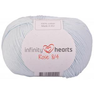 Infinity Hearts Rosa 8/4 Garn einfarbig 79 Baby-Blau
