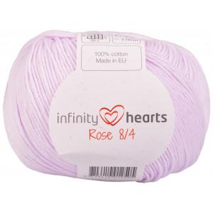 Infinity Hearts Rosa 8/4 Garn einfarbig 50 Puder