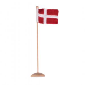 Dänische Flagge by Rito Krea - Strickmuster mit Kit Flagge Dänemark 12x16cm