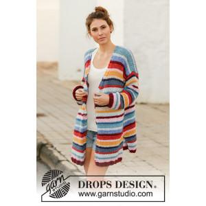 Farbe Clashby DROPS Design - Strickmuster mit Kit Jacke Größen S - XXXL
