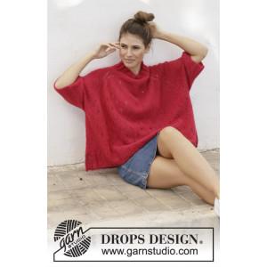 Strawberry Swing by DROPS Design - Strickmuster mit Kit Bluse Größen S - XXXL