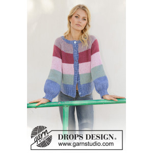 Sweet Country Sunrise Jacket by DROPS Design - Strickmuster mit Kit Pullover Größen S - XXXL