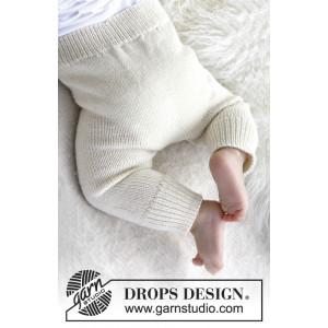 Cozy and Cute by DROPS Design - Baby Bukser Strikkeopskrift str. 1/3 mdr - 3/4 år