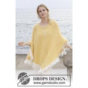 Soldans by DROPS Design - Strickmuster mit Kit Poncho S - XXXL