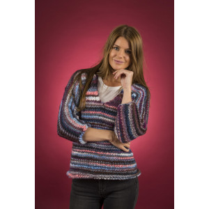 Mayflower Easy Knit Women Pullover mit V-Ausschnitt - Strickmuster mit Kit Pullover Größen S - XXXL