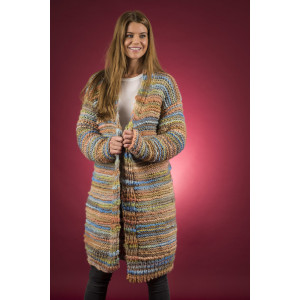 Mayflower Easy Knit lange Wickeljacke - Strickmuster mit Kit Jacke Größen S - XXXL