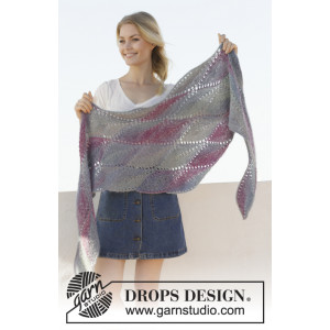 Lamella by DROPS Design - Strickmuster mit Kit Tuch 176x50cm