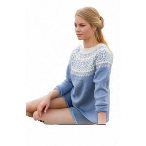 Periwinkleby DROPS Design - Strickmuster mit Kit Sweater Größen S - XXXL