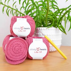 Crochet Pads by Rito Krea - Häkelmuster mit Kit für runde Wärmekissenbezüge 7cm - ca. 100 Stk