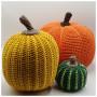 Tweo-tone Halloween Pumpkin by Rito Krea - Häkelmuster mit Kit Halloween Kürbis